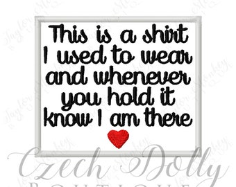 This is a shirt I used to wear Plain w/ Heart Iron On or Sew On Patch Memorial Memory Patch for Shirt Pillows - Embroidered - Embroidery