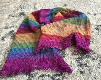 Handgefärbtes Garn, Indie Garn gefärbt, handgefärbten Garn GRUMPY Regenbogen-gefärbt, um die Bestellung von Hand bemalt Sock Blank Merino/Nylon Doppel gestrandet