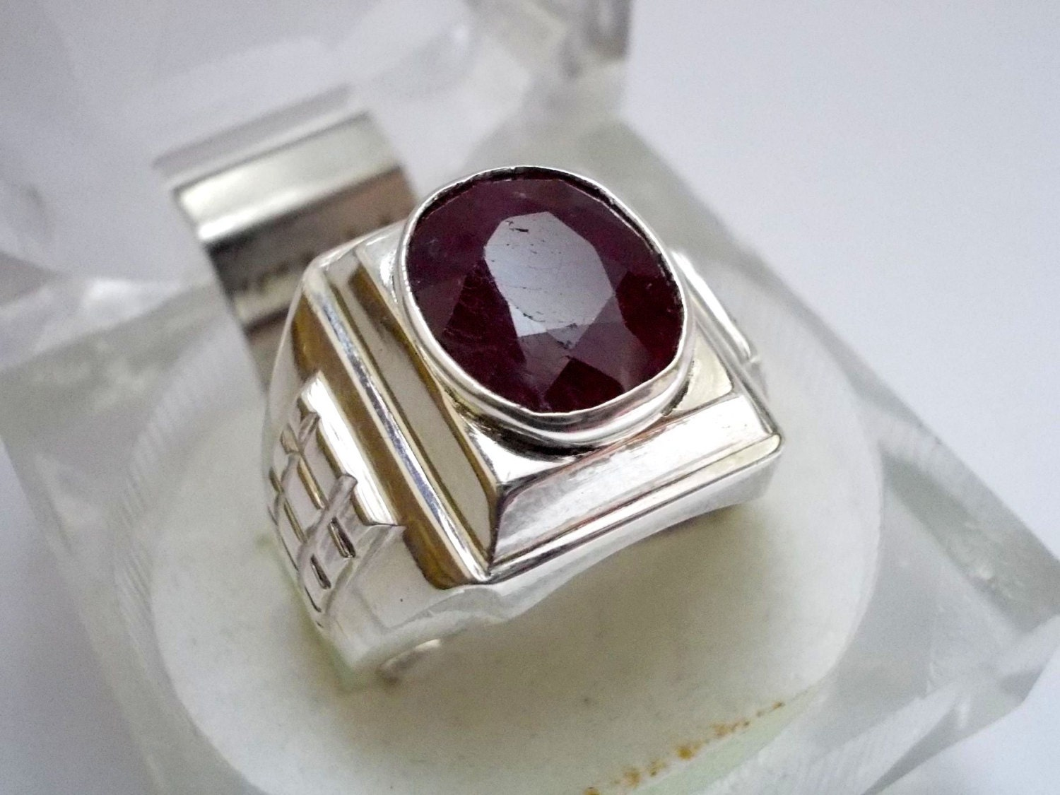Ruby Ring Ruby Ring Men Silver Ruby Ring Yaqoot US 9