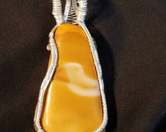 Silver Jasper Pendant