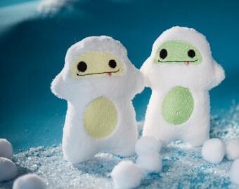Pick a color Yeti - abominable snowman Mini Snow Stuffies - stocking stuffers - plush ornament- plushie stuffed animal - christmas village