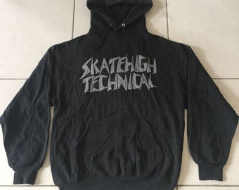 Vintage 90s Skatehigh Technical Sweater Hoodie Medium USA