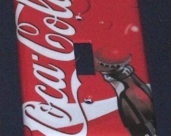 Coca Cola Light switch plate ... & Plastic coke sign | Etsy