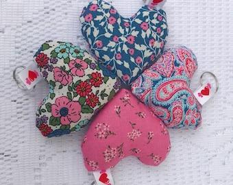 Spring Heart Lavender Keyring