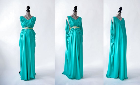One piece Grecian gown tutorial. For maternity or