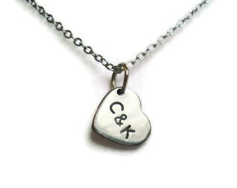 Personalized Heart Charm Necklace