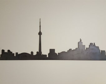 Toronto Skyline Metal Art