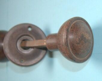 Art Deco bakelite door knobs for use with a rimlock
