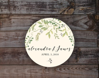 Stickers, wedding stickers, wedding favor stickers, wedding label, gift bag label, gift bag stickers, floral stickers, watercolor sticker