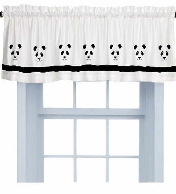 Panda Bear Window Valance Curtain Your Choice Of Colors