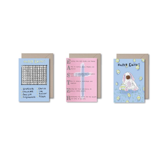3 Pack of Easter Cards