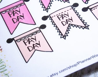 Pay Day, Stickers, Planner Stickers