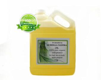 7 LB  Moringa Oleifera Oil 100% Pure & Organic Cold Pressed