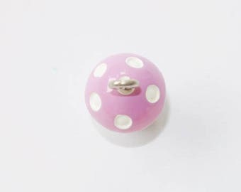 Resin - purple white mushroom charm