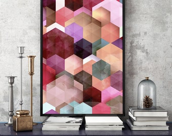 geometric print geometric poster geometric art abstract art print geometric prints abstract geometric digital download watercolor geometric