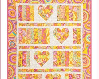 SWEETHEART Quilt Pattern     JELLY ROLL Friendly    Beginner/Easy Pattern    By: Artichoke Collection