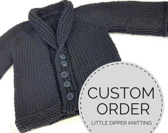 CUSTOM ORDER Hand Knit Baby Sweater, Baby Coming Home Outfit, Knit Baby Jacket, Newborn Boy Sweater, Baby Girl Handknit Sweater, Baby Outfit