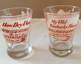 Vintage Hazel Atlas  Melody Bar Glasses