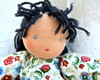 Waldorf doll 12inch\30cm, for all ages, made of natural materials. ONE OF A KIND