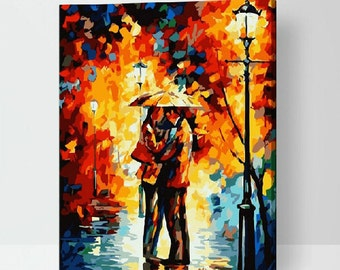 Couple Painting DIY Painting Kit Paint By Numbers Kit DIY Oil Painting On Canvas Gifts Wall Art Handmade Gift DIY Kit Craft Kit Wall Deco