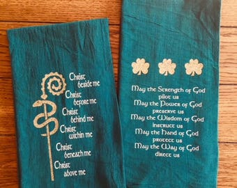 St Patrick's Day,  Green, Flour Sack, Tea Towel