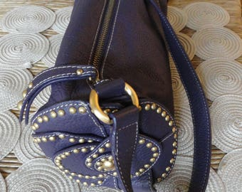 Vintage Leather Studded handbag, PoochPieCollection Time Keepers Attic Piece