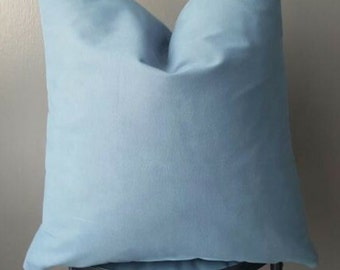 Suede Steel Blue Decorative Pillow cover