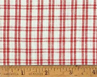 """Cherry Red 3 Homespun Cotton Fabric (Full Yard 36"""" x 44"""")"""