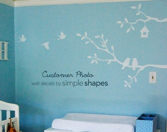 Cute Birds and Branches Decal - Vinyl Wall Decal - SM