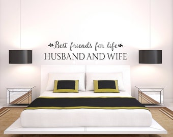 Best Friends For Life Husband And Wife Wall Decal - Bedroom Decor - Bedroom Wall Decor - Vinyl Wall Decal Husband Wife Quotes - Wall Quotes