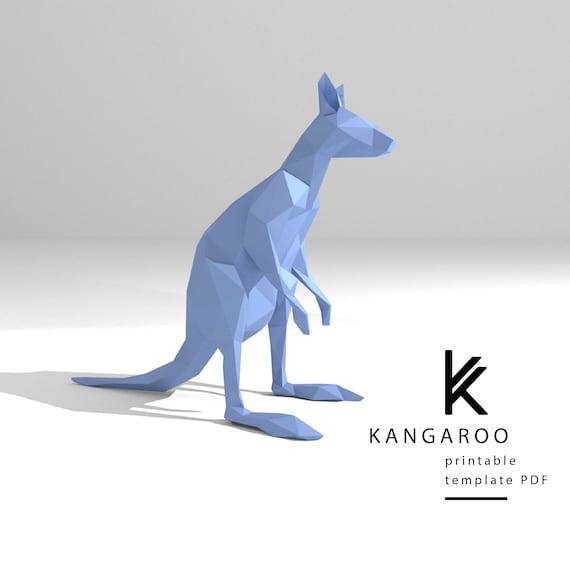 kangaroo template printable