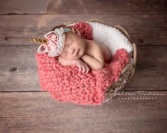 Oversized Large Newborn Layering Blanket, Basket Stuffer, Layering Blanket, Bump Blanket, Baby Blanket, Crochet Blanket, Newborn Photography
