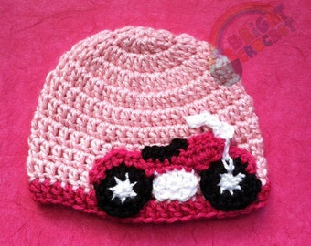 Baby Motorcycle Crochet Hat