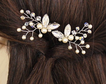 Bridal pins Wedding hair pins Bridal hair accessories Wedding hair accessories Bridesmaids pins Prom hair accessories Swarovski  pearls