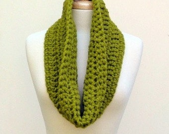 Chunky Lime Green Cowl Unisex Big Acrylic Scarf