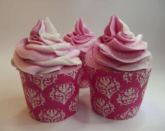 Champagne & Strawberries Bath Bomb Cupcake