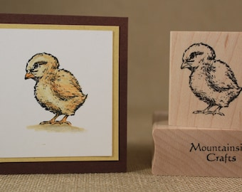 BABY CHICK - wood mounted rubber stamp(MCRS 20-30)