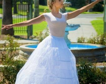 Amber 3 Hoop Slip - Ball Gown Petticoat - Crinoline Petticoat - Bridal Slip - Petticoat Slip - A-Line Slip - 3 Hoop Petticoat - Long Slip