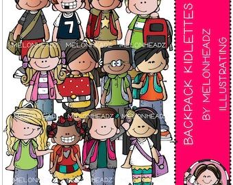 Backpack Kidlettes clip art - Combo Pack