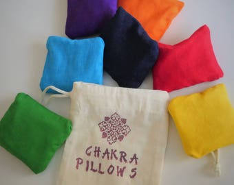 Chakra Balancing and Clearing Pillows - additional support for your energetic balancing and meditation