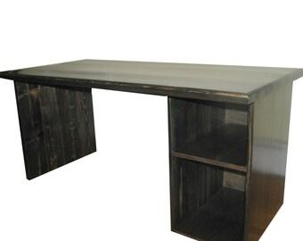 Computer Desk, Farmhouse, Rustic, Modern, Ebony, Custom made