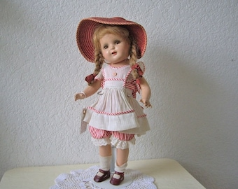 Nancy Doll by Arranbee, All Original. Composition in wonderful condition.  17 inches, 1930s.