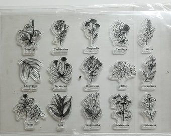 Herbs/Plants Clear Stamp Set!