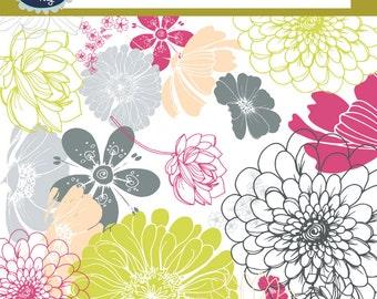Flower clip art FLORAL CLIP ART 50 png flowers, spring flowers, floral design, clipart flower, floral flower design, clip art flowers