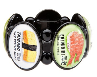 Sushi Five-Cameo Stretch Bracelet