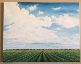 """Original Painting """"Idaho Sky"""""""
