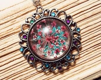 Vintage Inspired Flower Pendant
