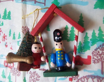 two wee holiday ornaments