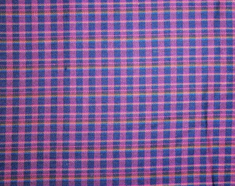 "Light-weight Wool Plaid Fabric - 40"""