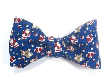 Mens SILK BOW TIE Get Dressed Santa Claus Christmas Party BowTie